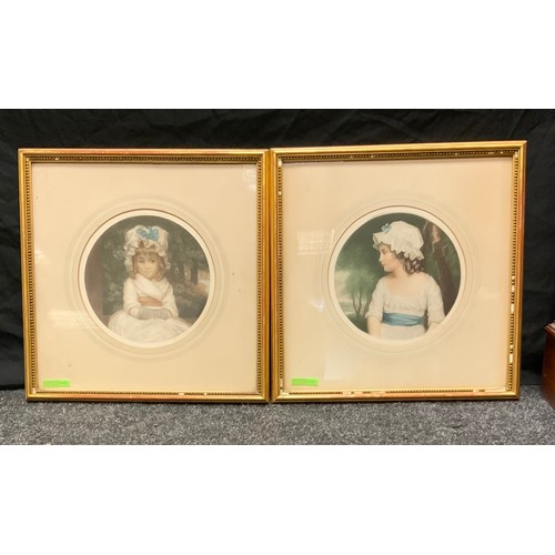 82 - Reynolds, a pair, simplicity and Miss Penelope Boothby, mezzotints, signed, 21.54cm diameter