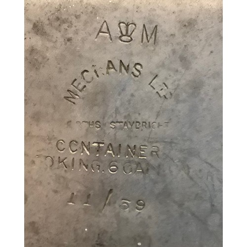 "151 - Two Aluminum field kitchen containers, one stamped with Air Ministery mark and ""Mecians Ltd Containe..."