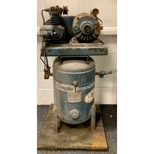 258 - A CompAir Broomwade compressor. 123cm high.