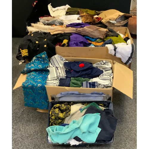 245 - Fashion and textiles - quantity of Childs costumes for drama productions; various other woman's coat...