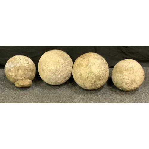 199 - Four stone gall gate finials