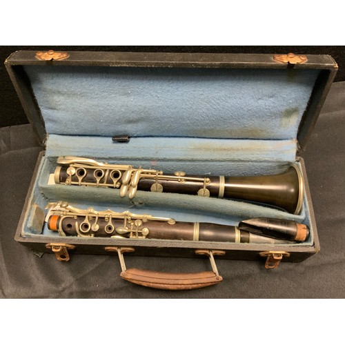 262 - A French Buisson clarinet, 66cm long, cased
