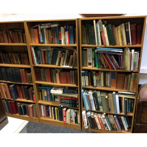 95 - Three modern floor standing bookcases 161cm high x 70cm wide x 22.5 cm deep (bookcases only not book...