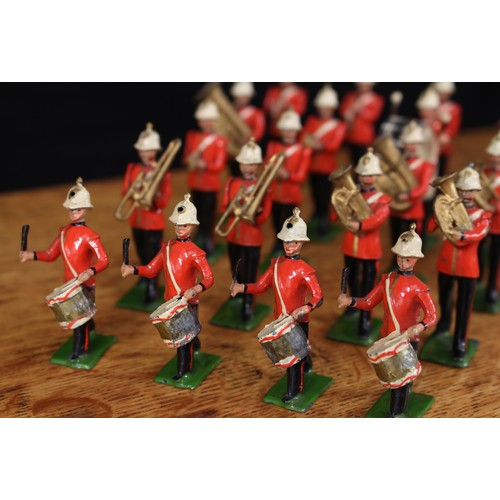 5230 - A rare W Britain (Britains) group of twenty one figures from No.1622 Royal Marine Light Infantry Ban...