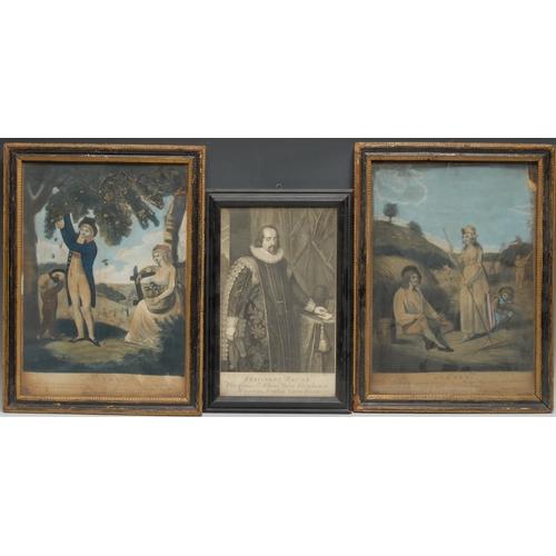 4033 - John Fairburn (fl. 1789-1840, publisher), a pair, Summer and Autumn, from Thompson's Seasons, London...