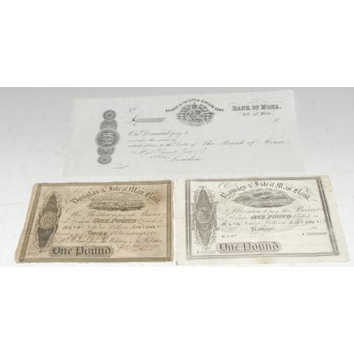 3937 - Banknotes, GB, Isle of Man: Ramsey & Isle of Man Bank, £1, [n.d.], (1); Douglas & Isle of Man Bank, ...