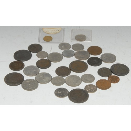 3952 - Coins, GB, Isle of Man, George III: 1786, penny and two halfpennies, (3); 1798, penny and two halfpe...