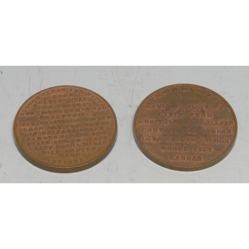 3937A - Amended Description Token, USA, 20th Century, Sex, Prostitution and the American West, Brothel Token...