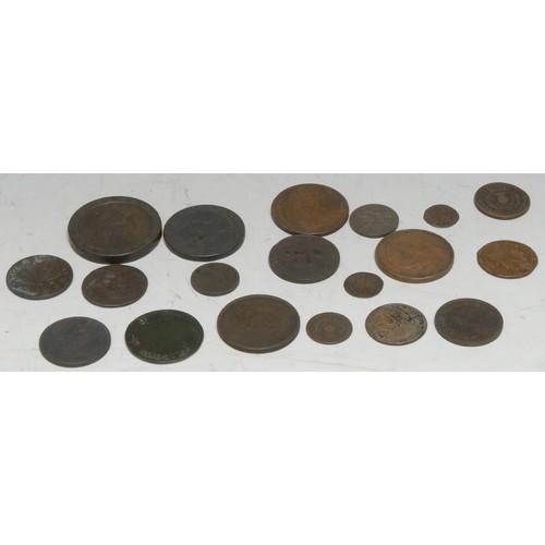 3950 - Coins, GB, AE, including Charles II, Scotland, 1677 turner, (1) 1679 bawbee, (1); James II, Ireland,...