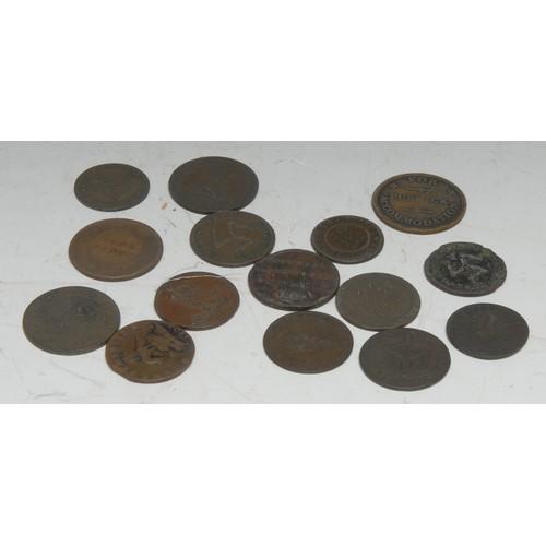 3939A - Tokens, GB, Isle of Man, including 1811 Douglas Bank Token; 1700 halfpenny; 1733 halfpennies (2); 17...