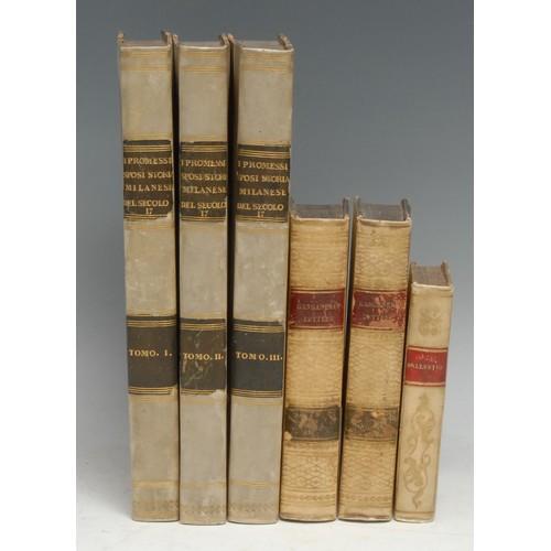 4155 - Italian Belles-Lettres - Manzoni (Alessandro), I Promessi Sposi [...], three-volume set, first and o...