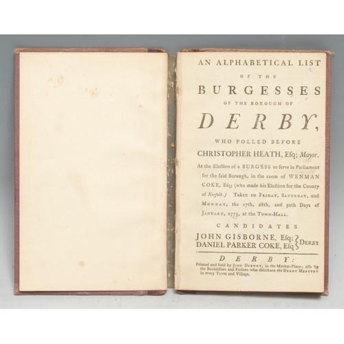 4163 - Local Interest, Georgian Politics, 1775 Poll Book - Provincial Imprint, An Alphabetical List of the ...