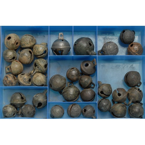 3836 - Antiquities - a collection of post-Medieval bronze cow bells, various sizes, (approx. 35)