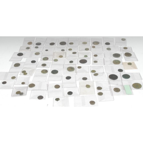 3959 - Coins, Roman, AE, mainly 3rd century Antoniniani and 4th century AE3 and AE4 issues, also 2nd centur...