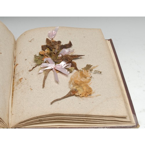 4064 - A 19th century herbarium, compiled by Charles Brown, the fly-leaf dated September 9th 1874, comprisi...