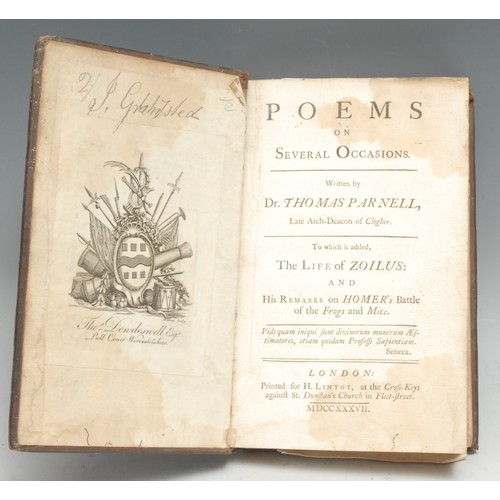 4190 - Parnell (Dr Thomas, Late Arch-Deacon of Clogher), Poems on Several Occasions, To which is added, The...