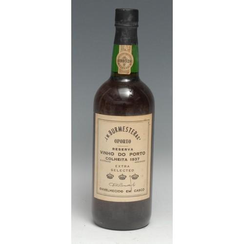 3984 - J.W. Burmester & Co. Reserva Vinho Do Porto 1937 Colheita Port, [75cl, 20%], labels fairly good, lev...