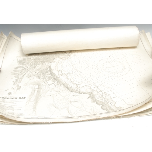 4054 - Maritime Cartography - England, a collection of seven Hydrographic Office coastal charts, mixed date...