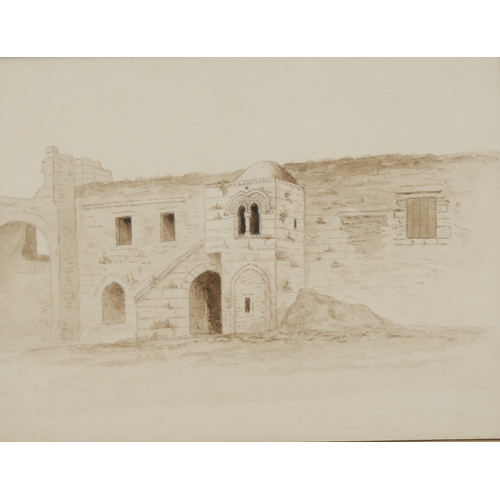 3693 - Orientalist School (mid-19th century) The Hospice of St. John, Jerusalem titled and dated 1850 to ve...