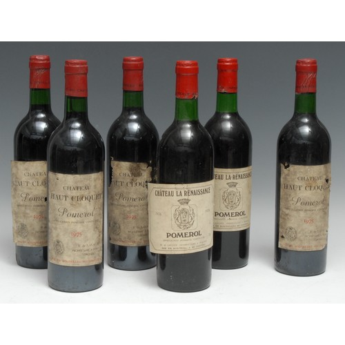 3986 - Pomerol - four bottles of Château Haut Cloquet 1975, [750ml], labels OK to fair, levels within the n...