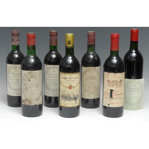3991 - Saint-Émilion - Château Lamour Grand Cru: three bottles of 1979, 75cl, labels fair, mixed levels bet...