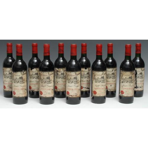 3976 - Eleven bottles of Château Haut-Goujon 1985 Lalande-de-Pomerol, 75cl, mixed label conditions, levels ...