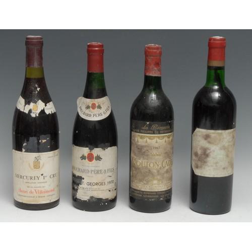 3963 - Baron Philippe de Rothschild Mouton-Cadet 1967 La Bergerie, Shipped by Edward Young & Co Ltd., label...