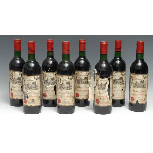 3974 - Eight bottles of Château Haut-Goujon 1981 Lalande-de-Pomerol, 75cl, labels OK-fairly good, levels at...