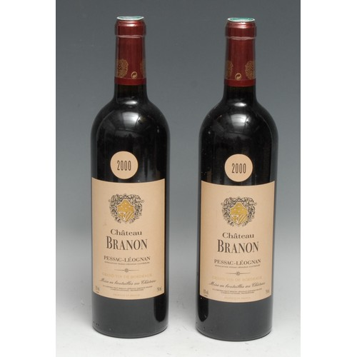 3999 - Two bottles of Château Branon 2000 Pessac-Léognan, 750ml, 13%, labels good, levels within neck, seal...