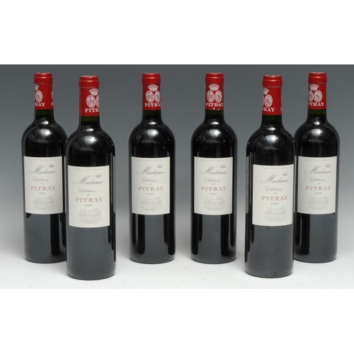 3994 - Six bottles of Château Pitray 2009 Madame, 750ml, 14.5%, labels good, levels within neck, seals inta...