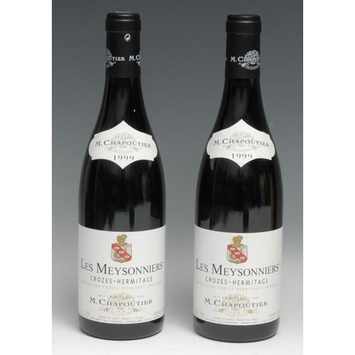 4003 - Two bottles of M. Chapoutier 1999 Les Meysonniers Crozes-Hermitage, 750ml, 12.5%, labels good, level...