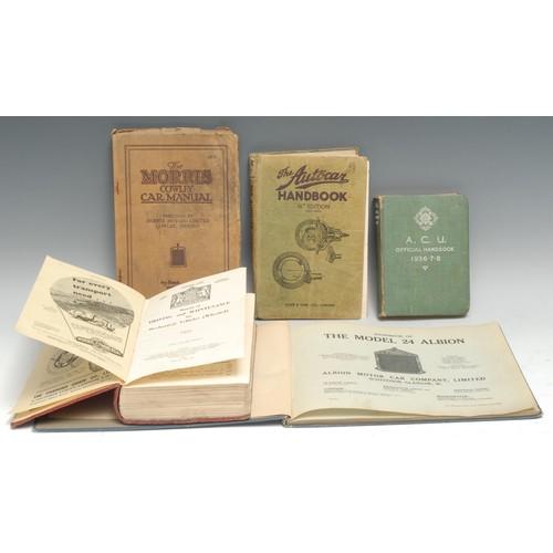 4126 - Automobilia - Handbook of the Model 24 Albion, first edition, Glasgow: Albion Motor Car Company, Lim...