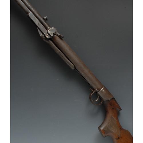 3911 - An early 20th century .22 calibre under-lever air rifle, BSA makers mark, Serial No.22175. 48cm sigh...