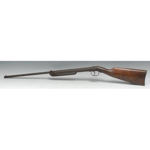 3892 - A Haenel Model 45 .177 calibre break-barrel air rifle, 37.5cm sighted barrel, walnut stock, 90cm lon...
