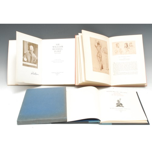 4146 - Flint (Sir William Russell, R.A.): Shadows in Arcady, signed by the artist-author, first and numbere...