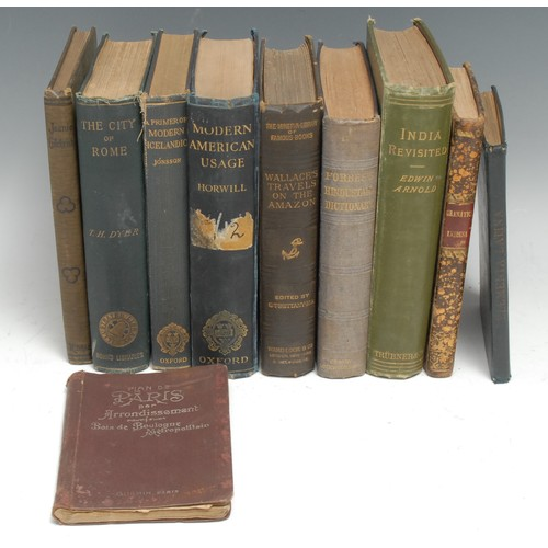 4207 - Travel and Languages- Wallace (Alfred Russel), A Narrative of Travels on the Amazon and Rio Negro, w...