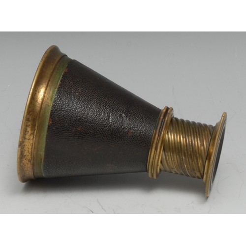 3787 - Photography - a late 19th century French focus finder, by Hermagis, Paris, helix adjustment, 8cm lon...