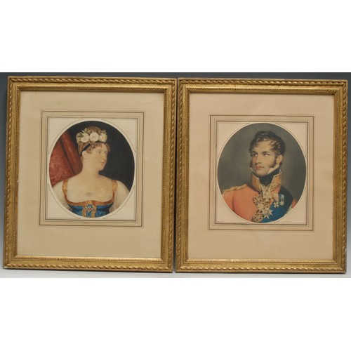 4025 - European Royalty - After George Dawe RA (1781-1829), a pair of portraits, Prince Leopold of Saxe-Cob...