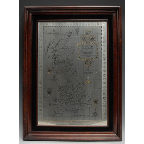 3515 - An Elizabeth II silver cartographic novelty, The Silver Map of Great Britain, Authorised by the Coun...