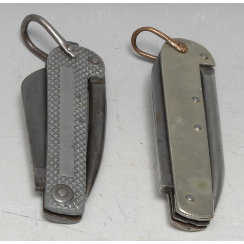 3660 - Machirology - a World War I military issue clasp knife, Encore by Thomas Turner & Co, Sheffield, 8.5...