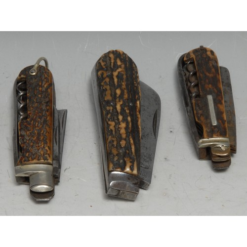 3646 - Machirology - a 19th century multi-tool pocket knife, by Nesbitt, Manchester, with partial blades, s...