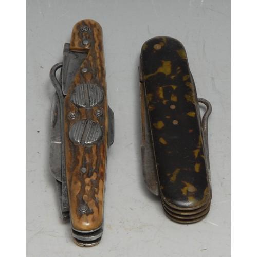 3645 - Machirology - a 19th century Irish multi-tool pocket knife, by Joseph Bradford, Clonmel, with penkni...
