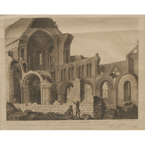 4005 - Architecture and Antiquarianism - English School (mid-19th century) Back Elevation of the Town House...
