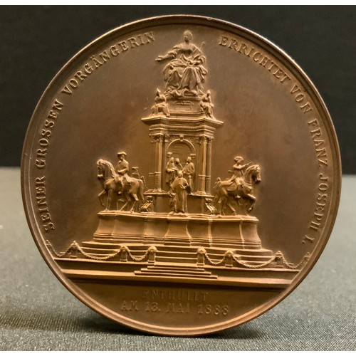 3960 - Medallion, Austria-Hungary, Franz Josef, 1888, AE, Unveiling of the Maria Theresa Monument in Vienna...