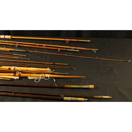 3565 - Angling - an early 20th century three-piece split-cane fishing rod, The Gordon, by Shapes of Aberdee...