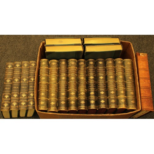 4127 - Bindings - Chamber's Encylopædia: A Dictionary of Useful Knowledge, ten-volume set, 1888-1892, fold-...