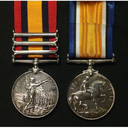 1 - Queens South Africa Medal with South Africa 1902, Transvaal and Orange Free State Clasps to 4320 Pte...
