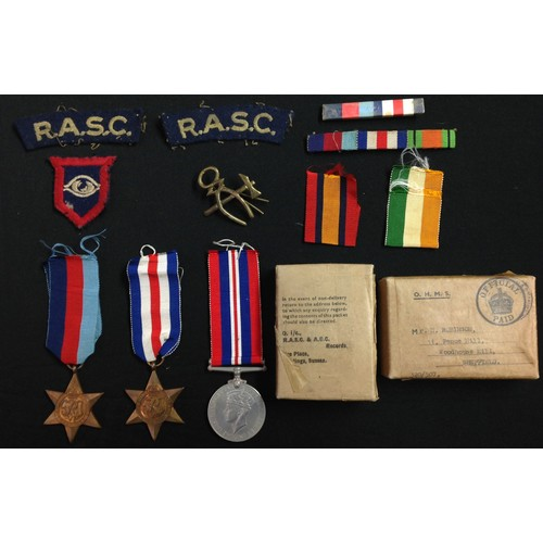 5 - WW2 British Army Guards Armoured Division RASC Medal Group to H Robinson comprising of 1939-45 Star,...