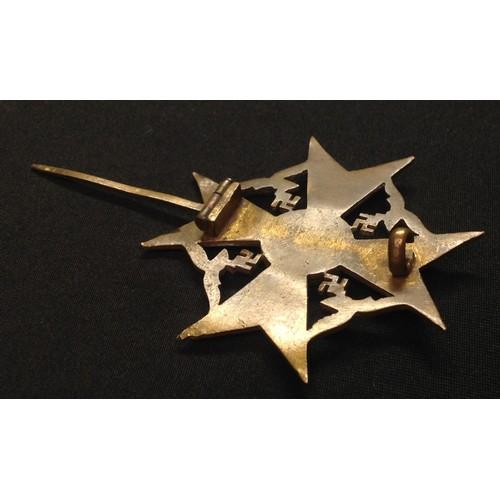 22 - WW2 Third Reich Spanienkreuz in Bronze - Spanish Cross in Bronze without Swords. No makers mark.
