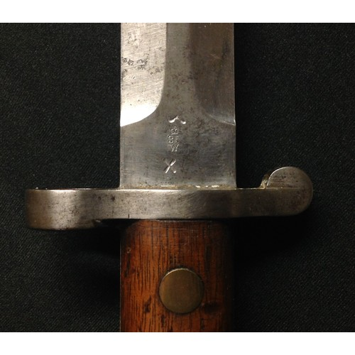 24 - British 1888 pattern Lee Metford bayonet. Double edged blade 302mm in length, maker marked